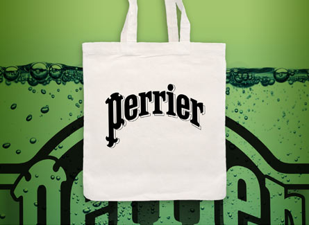 Sac tote bag Eau gazeuse Perrier marque france