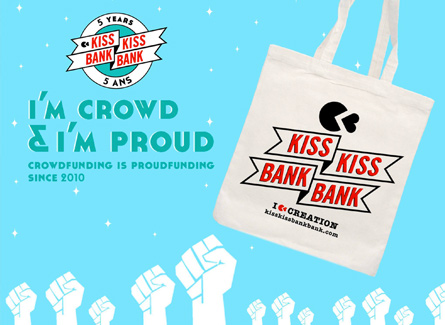 Sac tote bag kiss kiss bank bank financement participatif