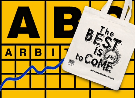 Sac tote bag ABC Arbitrage promotionnel goodies