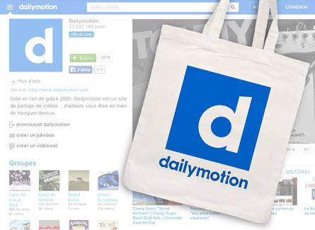 Sac Tote bag Dailymotion promotion media