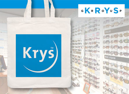 Sac tote bag opticiens Krys Lunetiers