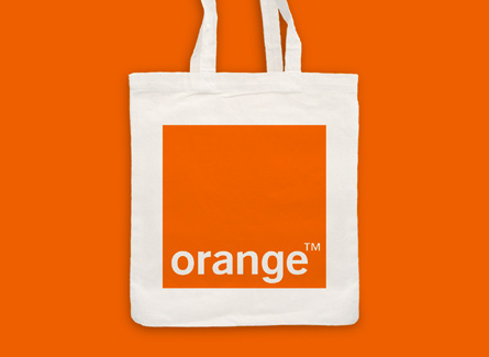 Sac tote bag téléphonie Internet Orange