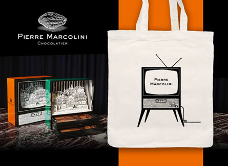 tote bag personnalisable marcolini choclatier Ami paris