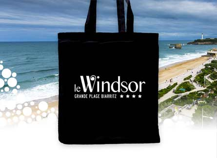Sac tote bag hotel Biarritz Windsor