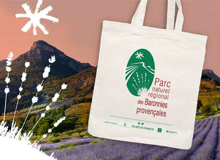 Sac tote bag promo PNR Parc Naturel Baronnies