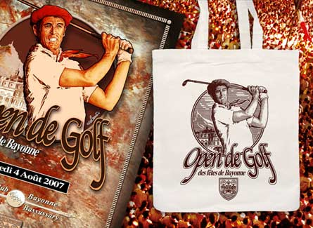 Sac tote bag Open golf Fêtes Bayonne