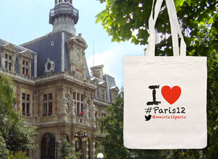 tote bag sac Mairie Paris XII